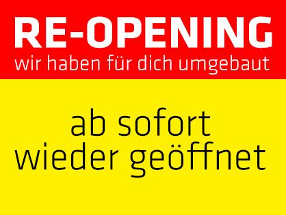 Ab sofort geöffnet