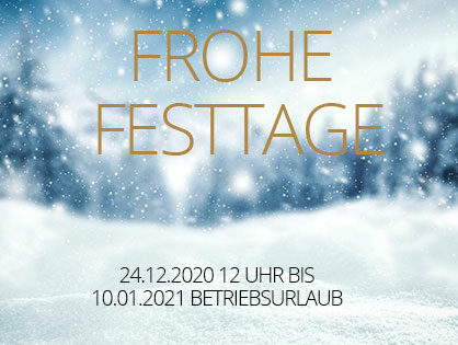 Frohe Festtage!